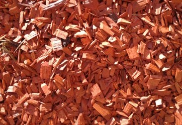 Red Dyed Chip Mulch - $71.6o per cubic metre